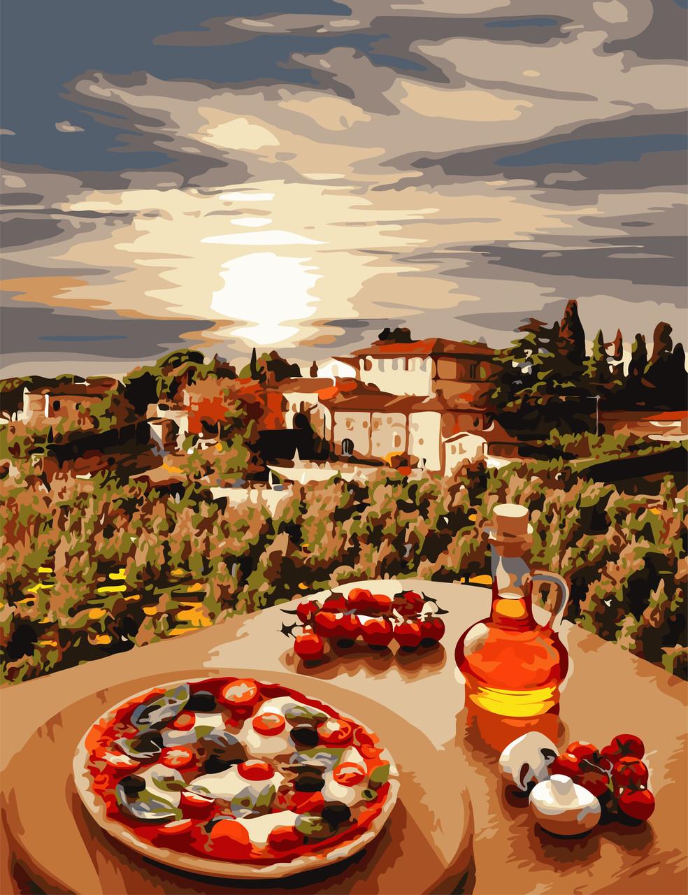 """Картина по номерам """"Италия """" 50*65 см в коробке, ArtStory + акриловый лак"""