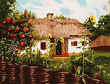 "Картина за номерами ""Українське село"" 50*65 см в коробці, ArtStory + акриловий лак"