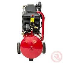 Компрессор 24 л, 2 HP, 1,5 кВт, 220 В, 8 атм, 206 л/мин INTERTOOL PT-0010, фото 3