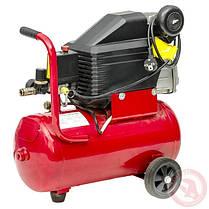 Компрессор 24 л, 2 HP, 1,5 кВт, 220 В, 8 атм, 206 л/мин INTERTOOL PT-0010, фото 2