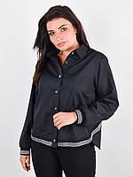 Стильная женская рубашка,черного цвета 50-52, 54-56, 58-60, 62-64