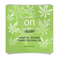 Пробник возбуждающего масла Sensuva - ON for Her Hemp Infused Arousal Oil (4 мл)