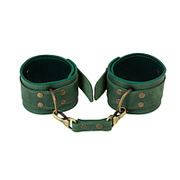 Премиум поножи LOVECRAFT зеленые, натуральная кожа, в подарочной упаковке, фото 1