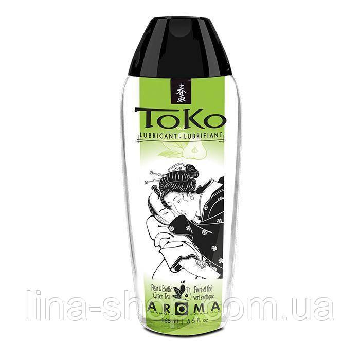 Лубрикант на водній основі Shunga Toko AROMA - Pear & Exotic Green Tea (165 мл), не містить цукру