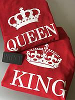Парные толстовки для парня и девушки KING \ QUEEN