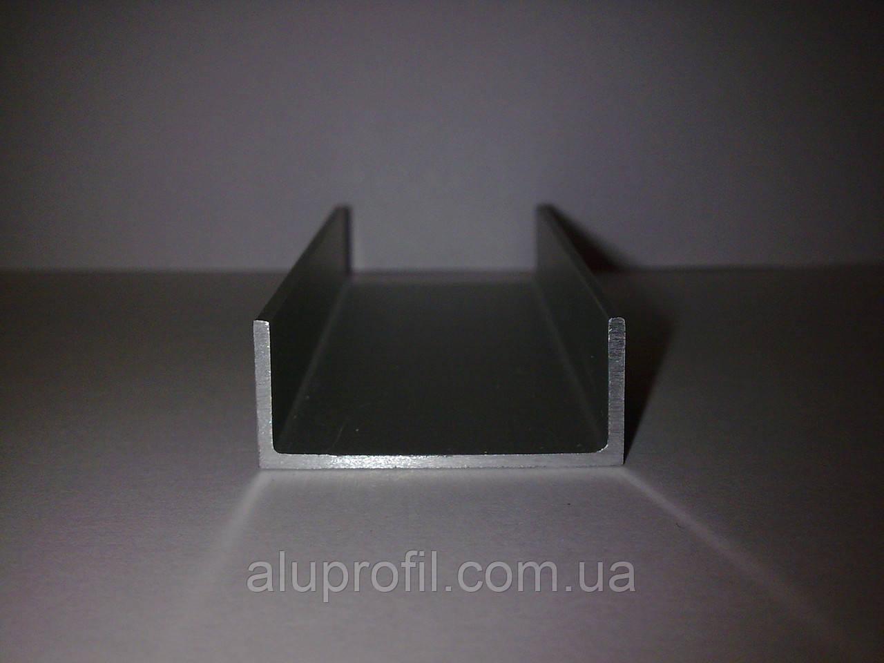 Алюминиевый профиль — п-образный алюминиевый профиль (швеллер) 20х10х2 AS