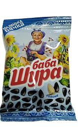 """Насіння соняшника смажене солоне """"Баба Шура"""" 90г"""
