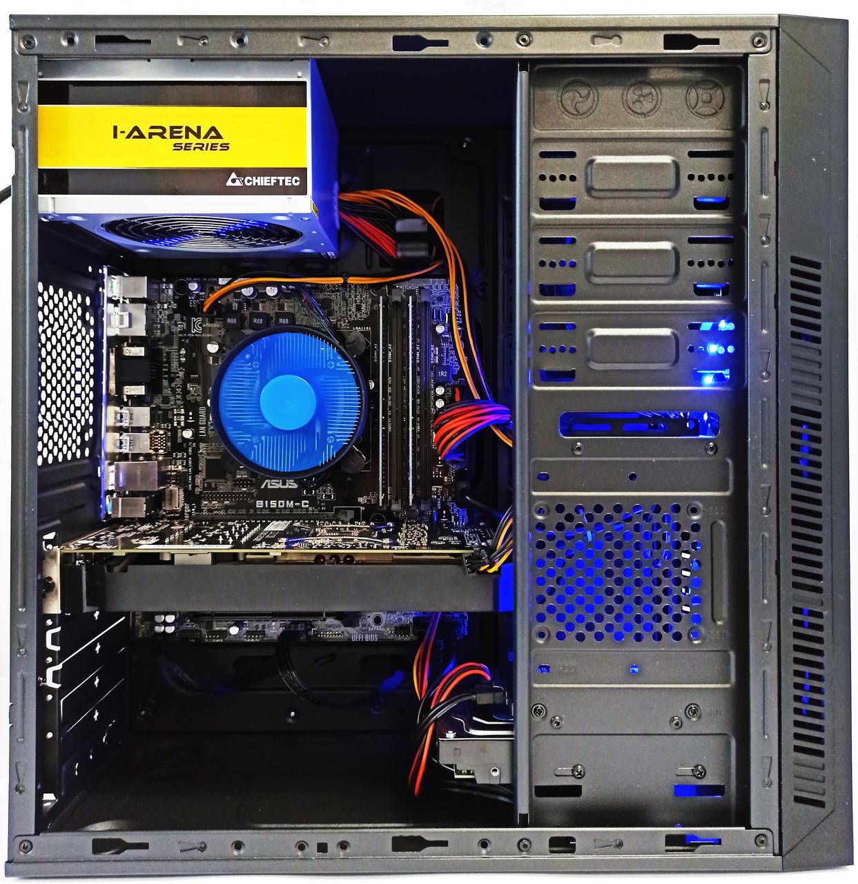 Компьютер БУ Core i5-6500 • AMD RX 580 4GB • 16GB DDR4 • SSD 120GB • HDD 500GB