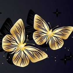 Бабочки - Скинали каталог для кухни