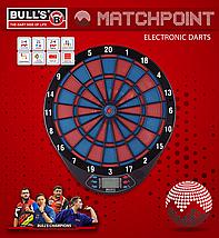 Дартс мишень электронная Bull's Германия Matchpoint (красно-синие сектора), фото 2