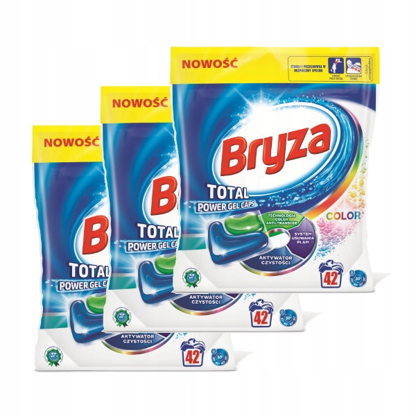 Капсули для прання Bryza Total Power Color 42 шт (Польща)