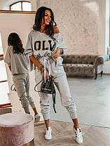 Костюм жіночий спортивний вільна кофта та штани, фото 2