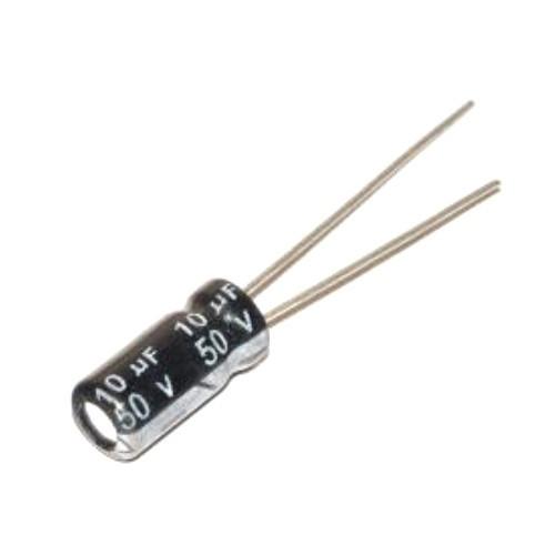 10x Конденсатор электролитический алюминиевый 10мкФ 50В 105С, 100161