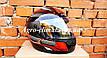 Шлем для мотоцикла Hel-Met F2-825-3 черный с красным глянец, фото 3