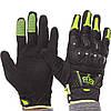 Мотоперчатки кожаные Fox MS-368-BG  черный-салатовый, фото 5