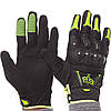 Мотоперчатки шкіряні Fox MS-368-BG чорний-салатовий, фото 5
