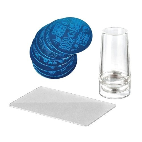 Набор для стемпинга, нейл-арта, прозрачный штамп, 102703