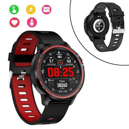 Смарт часы умные спортивные водонепроницаемые, фитнес браслет Lemfo L8