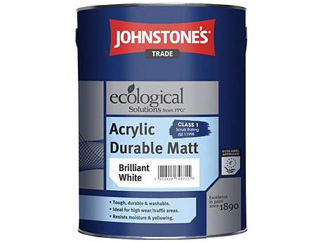 Акриловая износостойкая краска JOHNSTONE'S Acrylic Durable Matt (2,5 л), фото 2