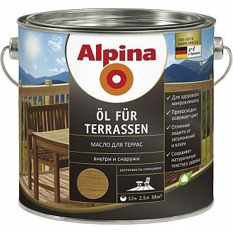 Масло ALPINA для террас 0,75л прозрачный (под колеровку)