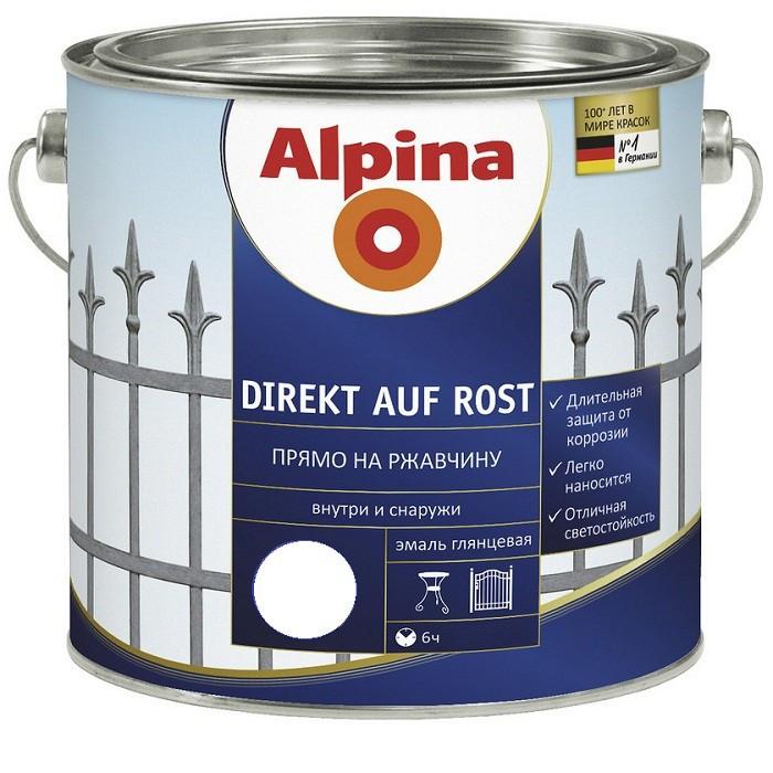 Емаль по іржі Alpina Direkt auf Rost золотий 0,75 л