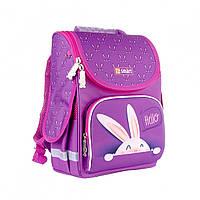 Каркасный рюкзак для девочки в школу, ортопедический, 1-4 класс, объем 10 л,