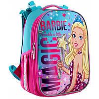 Рюкзак для девочки Barbie (Барби) школьный каркасный: водоотталкивающий, 15 литров, 2 отделения