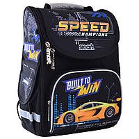 """Рюкзак для мальчика школьный """"Машины"""", 12 л, 43 см, каркасный ранец для школы"""