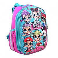 Ортопедический детский рюкзак для девочки школьный ЛОЛ: 1-4 класс, 15 л, 35 см