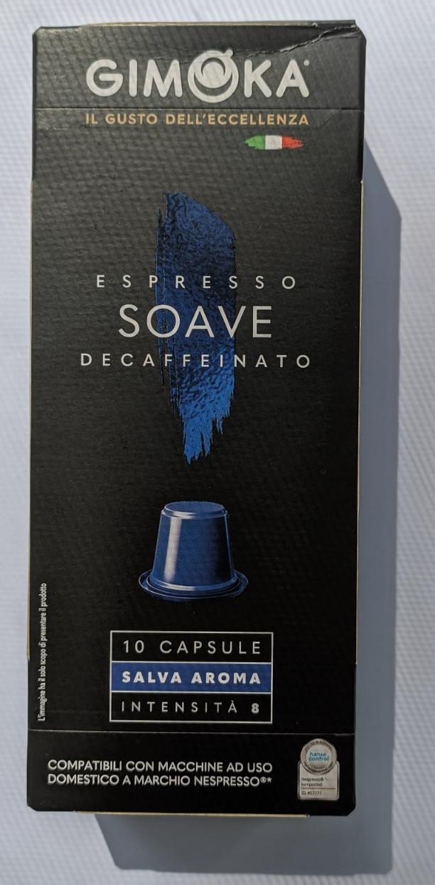 Кава в капсулах Gimoka Nespresso Decaffeinato 8, без кофеїну (10 шт.), Італія (Неспрессо оригінал)