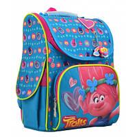 Школьный ортопедический рюкзак для девочек 1 Вересня Trolls turquoise, 12 л, 34 см, каркасный ранец для школы