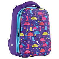 """Школьный рюкзак для девочек""""Umbrellas"""" фиолетовый"""