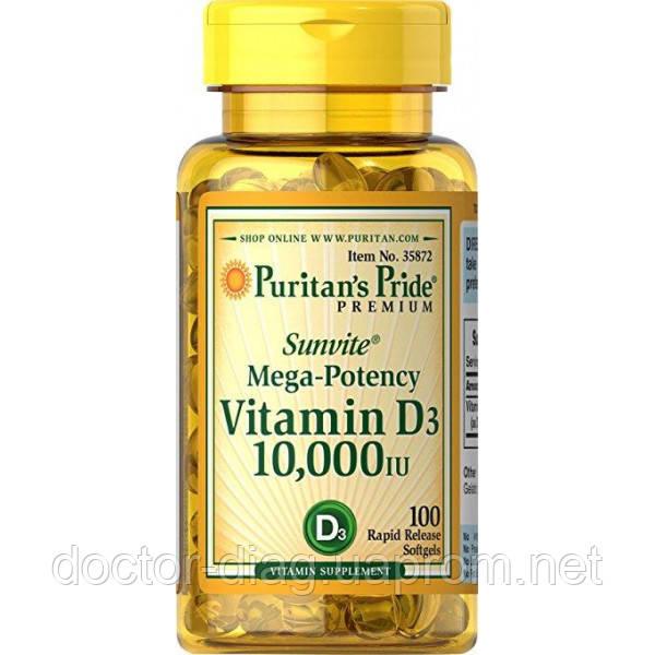 Puritan`s pride Витаминный комплекс Puritan's Pride Vitamin D3 10,000 IU, 100 капс.