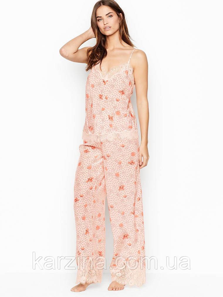 Шёлковая пижама Victoria's Secret Lightweight Silky Lace Cami & Lightweight Silky Lace Pant р.XS