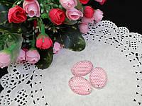 Овальный пришивной декор с пупырышками, розовый,  25х18мм