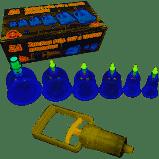 Массажные вакуумные банки 6 штук