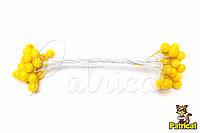 Ягоды желтые глянцевые 24 ягодки/уп 8 мм