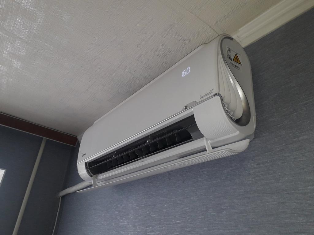 Установка теплового насоса MIDEA FA-09N8D6-I /FA-09N8D6-O серия BreezeleSS+ DC inverter (до -25С) в г. Запорожье
