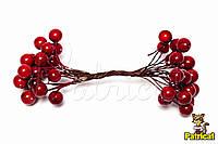 Ягоды Красные глянцевые 24 ягодки/уп 8 мм