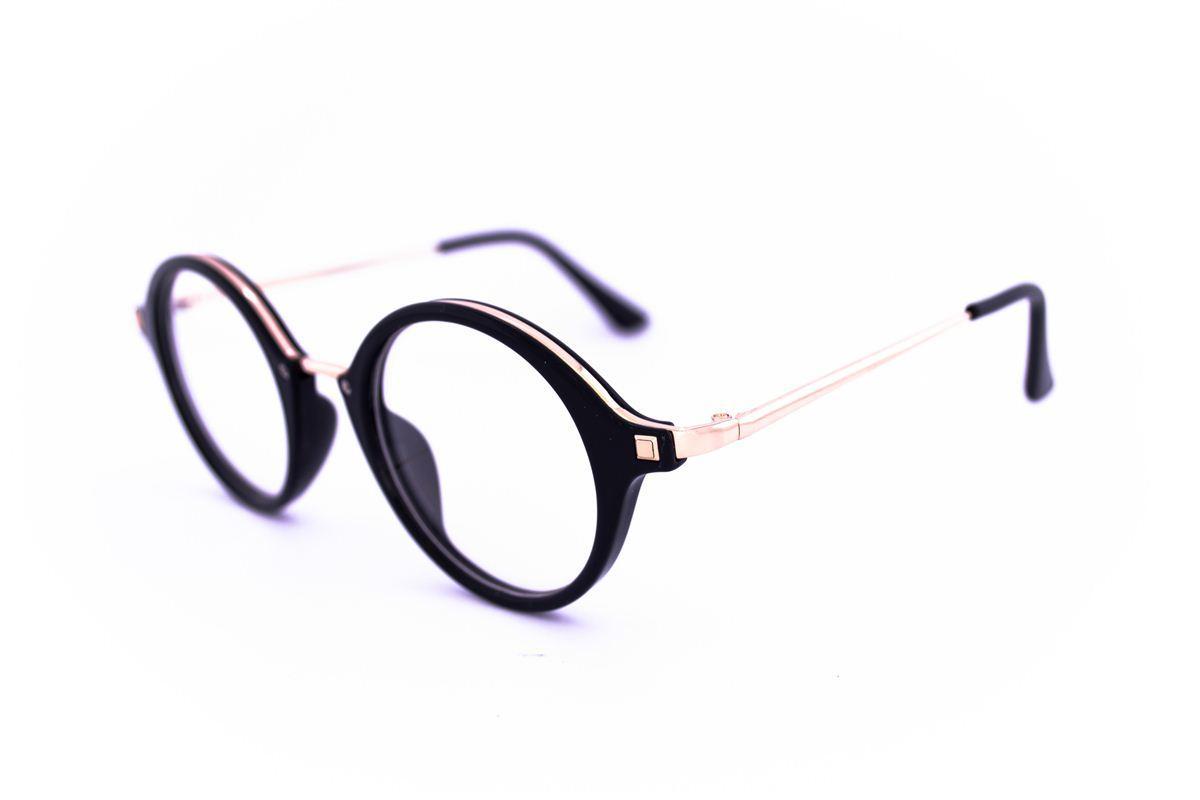 Имиджевые круглые очки - Черные - 830