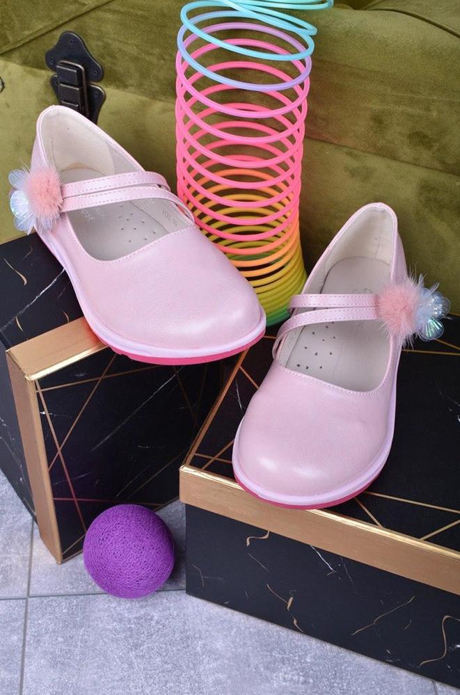Балетки детские розовые ABC 117