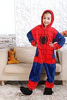 Пижама кигуруми для детей Человек паук Спайдермен рост 120 см. Кигуруми детская для мальчика на молнии