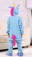 Кигуруми Единорог голубой детская пижама kigurumi костюм рост 132-140 (размер 134 140)