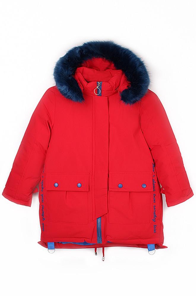 Парка детская красная Fashion 004