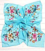 Легкий платок Angel София 95*95 см голубой