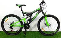 Горный двухподвесный велосипед Azimut Power 26 D+ черно-зеленый