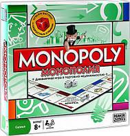 Игра настольная Монополия 6123  жетоны, карточки, деньги, фигуры, кубики,в кор-ке, 27-27-5см