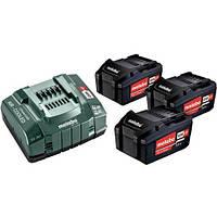 Комплект Metabo CAS 3 аккумулятора Li-Power 18В 5,2Ач + зарядное ASC 145 12-36В