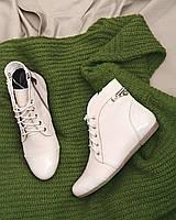 Женские ботинки изготовлены из натуральной кожи бежевого цвета 37 р