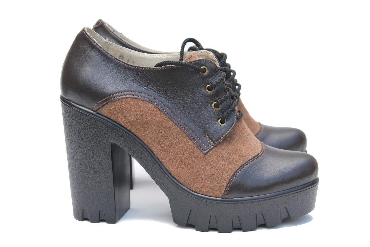 Ботинки на тракторной подошве ,  туфли на каблуке 39 размер